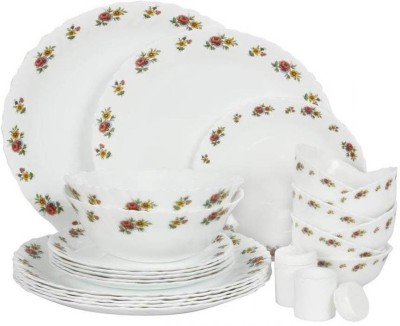 Laopala Petite Roses Pack of 35 Dinner Set(Opalware, Glass) at flipkart