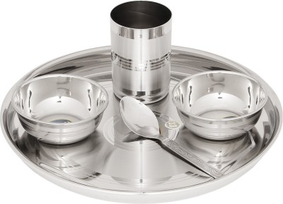 Airan Pack of 5 Stainless Steel Solid Grace Dinner Set Airan Dinner Sets