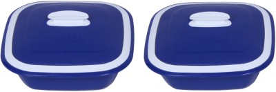 Cuttingedge Solitaire Casserole Set of 2 Small Soli11_B (Polypropylene, Blue) Pack of 2 Dinner Set(PP (Polypropylene)) at flipkart