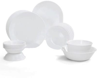 CORELLE Livingware Winter Frost Pack of 21 Dinner Set(Glass) at flipkart