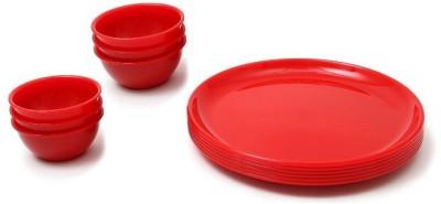 DS ZONE dinner plate Pack of 12 Dinner Set(Plastic) at flipkart