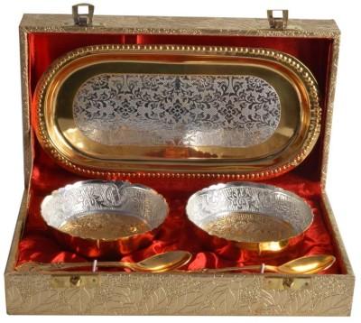 The Art Box Dinner Set(Brass) at flipkart