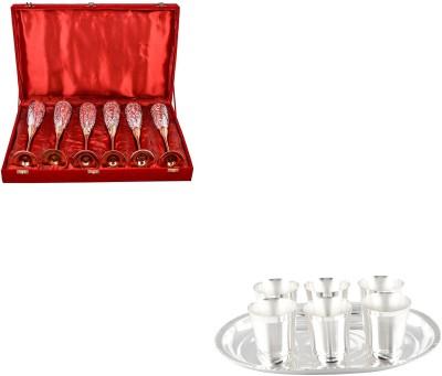 G S Museum Pack of 13 Dinner Set(Silver Plated) at flipkart