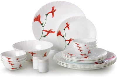 Laopala Divine Petals Pack of 35 Dinner Set(Opalware, Glass) at flipkart