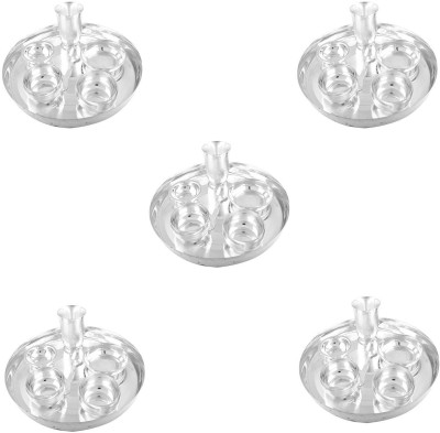 G S Museum Silver Plated 5 Dinner Set (Size-30 CM) Pack of 35 Dinner Set(Silver Plated) at flipkart