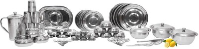 Shivom Pack of 61 Dinner Set Stainless Steel
