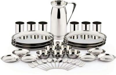 Pigeon Lunch Sparkle Pack of 37 Dinner Set(Stainless Steel)  available at flipkart for Rs.2989