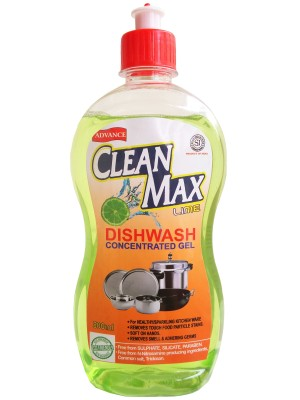 Cleanmax 500ml CONCENTRATED Dish Cleaning Gel(LIME, 500 ml)