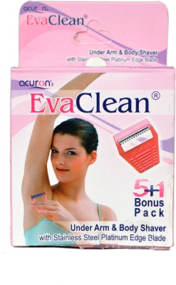 Acuron Eva Clean (Underarm And Body shaver For Women) Disposable Razor(Pack of 6)  available at flipkart for Rs.160