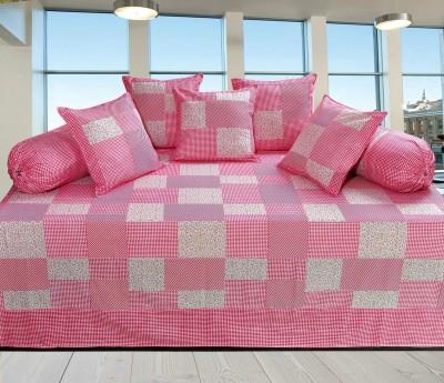 Decor Vatika Cotton Checkered Diwan Set  available at flipkart for Rs.529