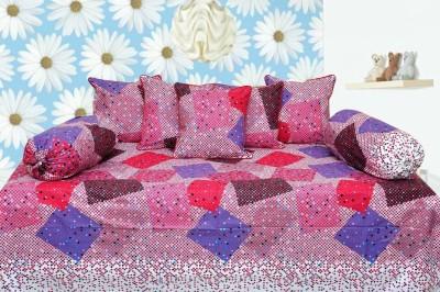 Decor Vatika Cotton Abstract Diwan Set  available at flipkart for Rs.399