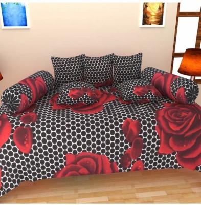 Decor Vatika Cotton Floral Diwan Set at flipkart