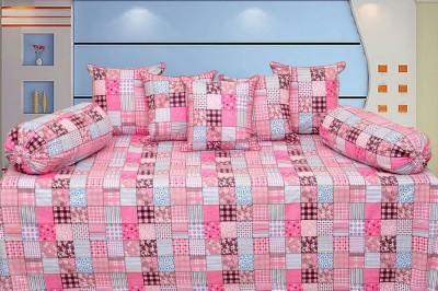 Decor Vatika Cotton Abstract Diwan Set  available at flipkart for Rs.449