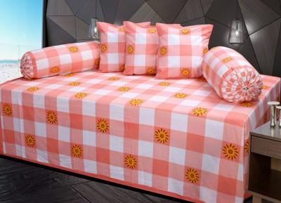 Decor Vatika Cotton Checkered Diwan Set  available at flipkart for Rs.515