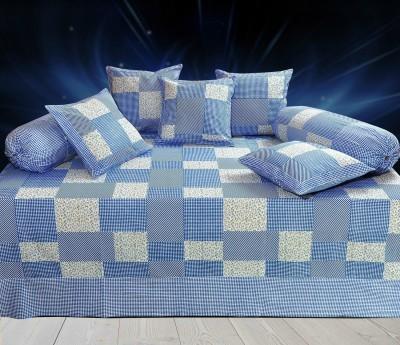 Decor Vatika Cotton Checkered Diwan Set  available at flipkart for Rs.499