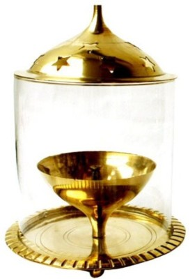 Inspiration World Brass, Glass Table Diya(Height: 5 inch) at flipkart