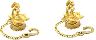 Handecor Traditional Indian Deepak Brass Hanging Diya Set(Height: 9 inch, Pack of 2)  available at flipkart for Rs.845