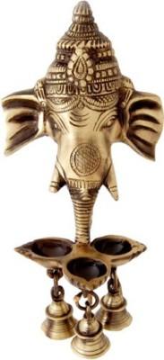MohanJodero Elegant Wall Hanging Ganesha Brass Hanging Diya(Height: 9.5 inch)  available at flipkart for Rs.799