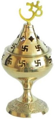 Inspiration World Swastic Brass Table Diya(Height: 7 inch) at flipkart