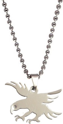Men Style 32 mm Flying Eagle Charm Engraved Silver Dog Tag at flipkart