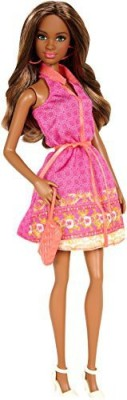Barbie Fashionistas Grace Pink Sleeveless Dress(Pink)