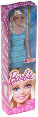 Barbie Exclusive Blue Chevron Dress(Blue)