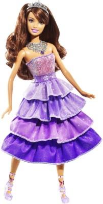 Barbie Sparkle Lights Purple Princess Doll(Multicolor)