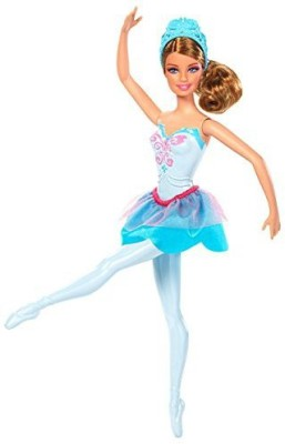Barbie in The Pink Shoes Ballerina Doll, Blue Dress(Multicolor)