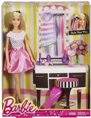 Barbie DOLL & PLAY SET STYLE YOUR WAY - DJP92(Multicolor)