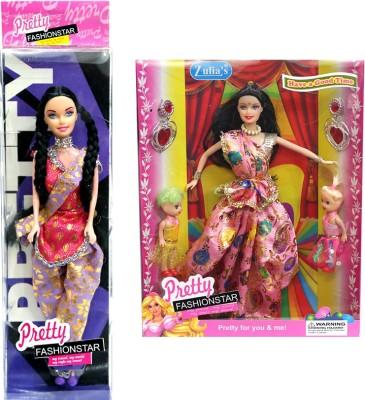 Amaya Pretty Fashion Doll7 Set Of 2(Multicolor)