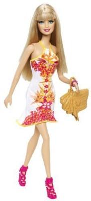 Barbie Fashionista White Floral Dress(Multicolor)