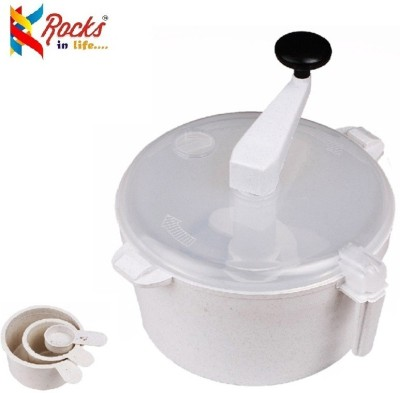 Rocks atta maker Plastic Detachable Dough Maker(White) at flipkart