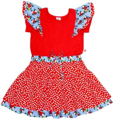 Always Kids Girls Midi/Knee Length Party Dress(Blue, Fashion Sleeve) Flipkart