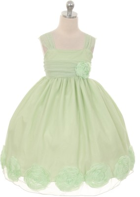 Magic Fairy Maxi/Full Length Party Dress(Light Green, Sleeveless) at flipkart