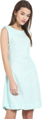 Griffel Women A-line Light Green Dress at flipkart