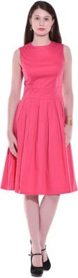 AARA WOMEN Women Gathered Pink Dress