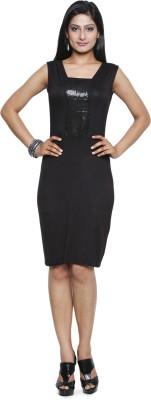 FIVE STONE Women Sheath Black Dress at flipkart