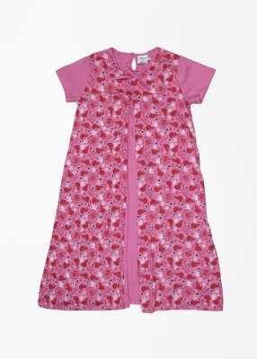 Disney by Genes Girl's Midi/Knee Length Casual Dress(Purple, Half Sleeve) at flipkart