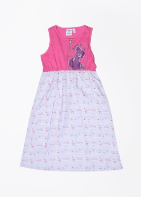 Disney by Genes Girl's Midi/Knee Length Dress(Multicolor, Sleeveless) at flipkart