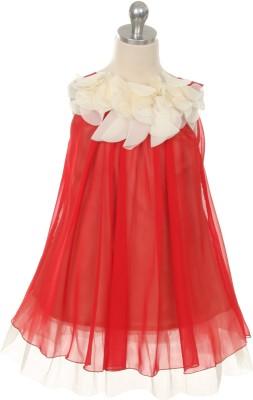 Magic Fairy Maxi/Full Length Party Dress(Red, Sleeveless) at flipkart