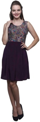 Trendsnu Women Gathered Multicolor Dress
