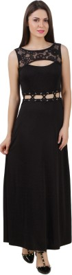 Texco Women Maxi Black Dress