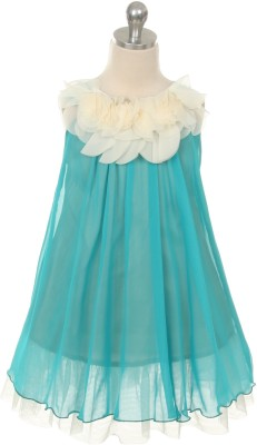 Magic Fairy Maxi/Full Length Party Dress(Green, Sleeveless) at flipkart