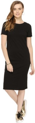 Rigo Women's Fit and Flare Black Dress