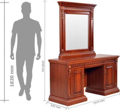 HomeTown Morrison Engineered Wood Dressing Table(Finish Color - Red Cherry) at flipkart
