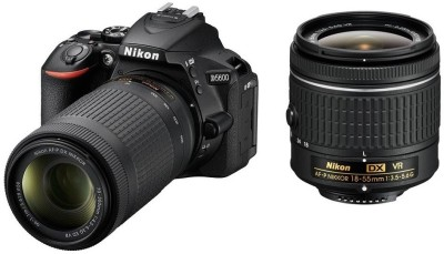 Nikon D5600 DSLR Camera Body with Dual Lens: AF-P DX Nikkor 18 - 55 MM F/3.5-5.6G VR and 70-300 MM...