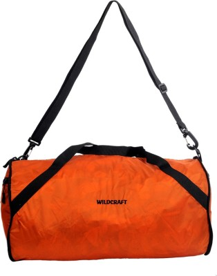 Wildcraft 10 inch/25 cm (Expandable) Carak Orange Travel Duffel Bag(Orange)