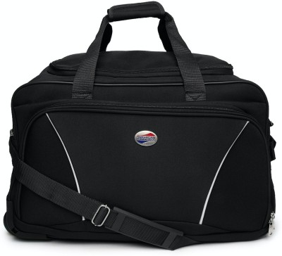 American Tourister (Expandable) Vision Duffel Strolley Bag(Black)