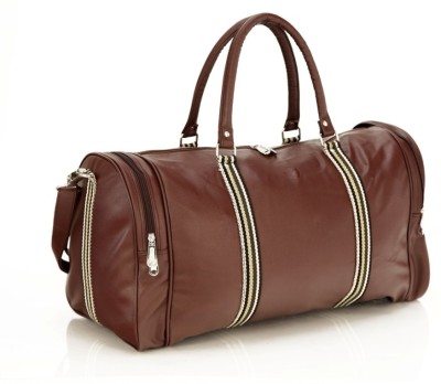 Mboss Faux leather Unisex Round Brown Multi Small Travel Bag   Medium Brown Mboss Small Travel Bags