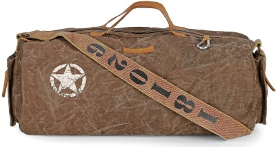 The House of Tara 20 inch/50 cm Distress Finish Canvas Duffle/Gym Bag Travel Duffel Bag Brown The House of Tara Duffel Bags